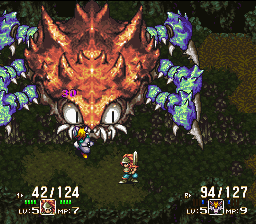 Seiken Densetsu 3 - 3-player Edition - Giant Crab Enemy - User Screenshot