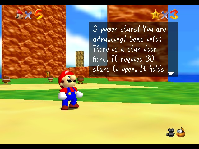 Super Mario 64 - The Power Star Journey hack (N64) Game