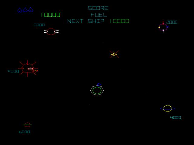 Gravitar (version 3) - Level <z>S</z>elect  -  - User Screenshot