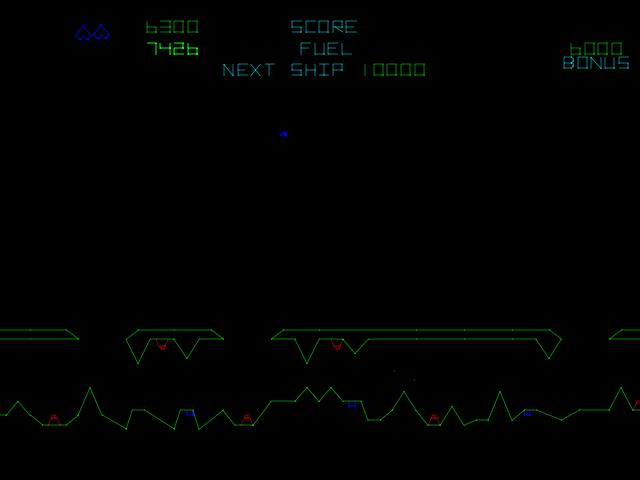 Gravitar (version 3) - Level  -  - User Screenshot