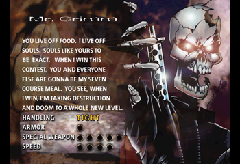 Twisted Metal 2 - Character Profile  - Mr Grimm - User Screenshot