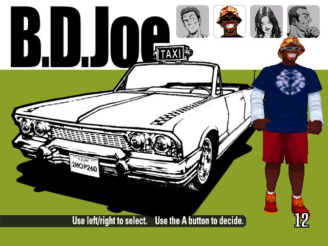 Crazy Taxi - Character Select  - B.D. ? - User Screenshot