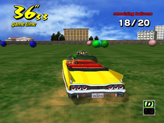 Crazy Taxi - Mini-Game  - crazy ballon - User Screenshot
