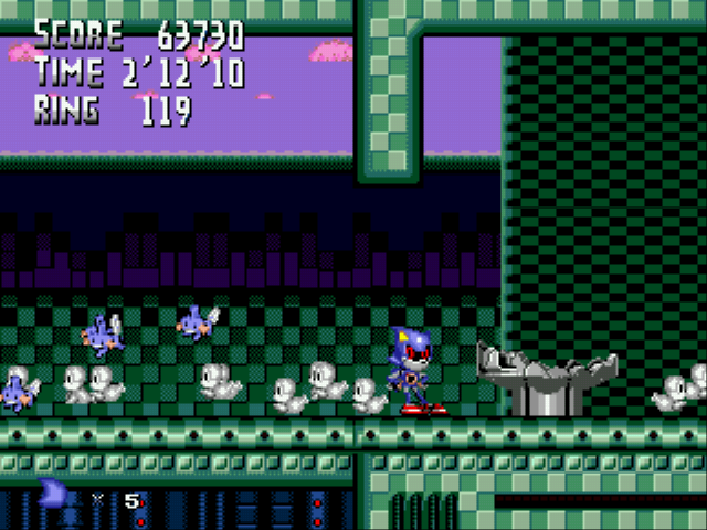 Metal Sonic Hyperdrive (Beta 2) - i saved mudkips! :D - User Screenshot