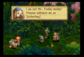 Legend of Mana - Location Jungle - Pwease be nice to him. - User Screenshot