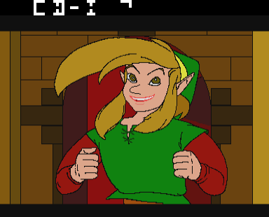 Zelda: The Wand of Gamelon - Cut-Scene  - No nightmares there.(link......I think) - User Screenshot