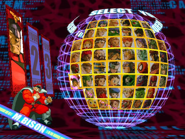 Marvel vs. Capcom 2: New Age of Heroes - Character Select  - Again with the no eyes :l - User Screenshot