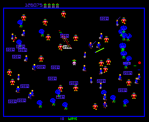 Robotron (Solid Blue label) - Level  - Wave 10 - User Screenshot