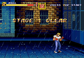 Streets of Rage 2 - Battle  - stage 1 clear - User Screenshot