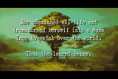 Sword of Mana (US) - Introduction  - A goddess became a Mana Tree - User Screenshot