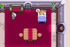 Zelda no Densetsu - Fushigi no Boushi - I look so cute sleeping in a castle! :D - User Screenshot