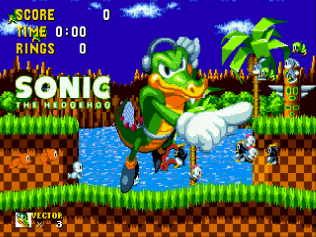 Play Vector The Crocodile In Sonic The Hedgehog Online Gen Rom Hack Of Sonic The Hedgehog Vector The Crocodile In Sonic The Hedgehog Gen