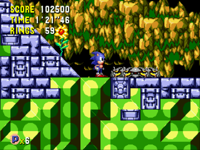 Sonic CD (european version) - Level Tidal Tempest - Time Capsule Tidal Tempest Act 2 - User Screenshot